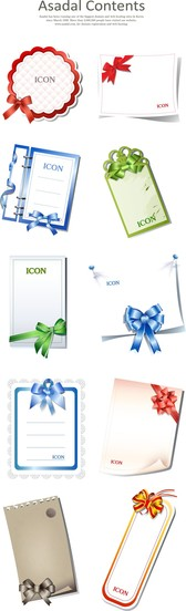 10 Blank Cards With Bow
