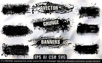9 Vector grunge banners