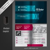 Vector editable brochure template