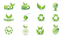 Green Eco Icon Set