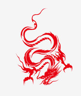 Free vector about dragon silhouette vector art
