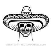 SKULL WITH SOMBRERO VECTOR.eps