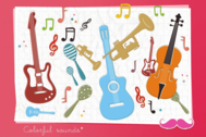 Free Vector Musical Instruments and Music Notes