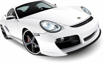 Free White Porsche 911 Turbo Tech Art
