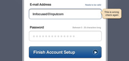 Account Setup Form (PSD)