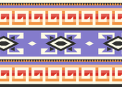 Purple Native American Pattern