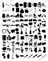 1000 Album Various Silhouette Vector Graphic-7