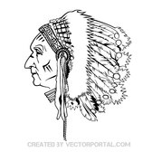 INDIAN CHIEF VECTOR GRPAHICS.eps