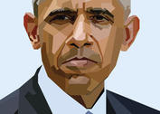 Free Obama Vector Portrait Skintone