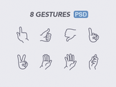 Gestures Free psd icon