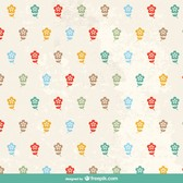 Sweet floral retro pattern