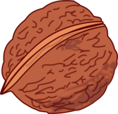 walnut colored