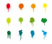 Bunte Farbe Splash Vector Set