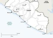 Free Vector Map of Liberia