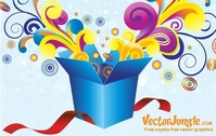 FREE VECTOR GROOVY GIFT BOX