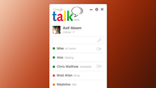 Google Talk koncept Design PSD