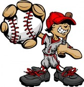 Baseball cartoon character1