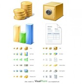 Quality Financial Ecommerce Icons Set