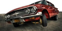 Lowrider on the road PSD
