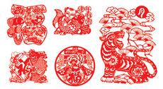 Vector Chinese Paper Cutting Vector Chinese
