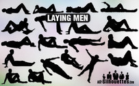 19 Vector laying man