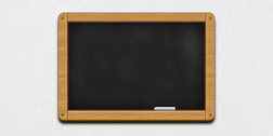 Wooden black chalkboard icon (PSD)