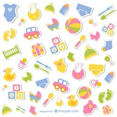 Baby icons free collection