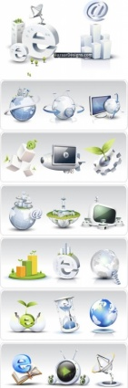 Communication and explorer icons