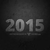 Grungy Textured 2015 on Grey Background