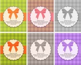 6 Quaint Vintage Frame Vector Backgrounds Set