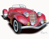 Stock Illustrations Auburn-Boattail-Speedster-replica