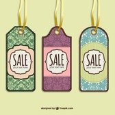 Sale tags free vector set