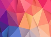 Abstract Low Poly Vector Background Illustration