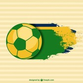 Vector brazilian soccer template