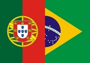 Flags Of Brazil And Portugal