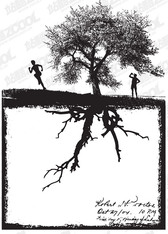 People With Tree Silhouettes