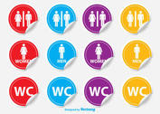 Restroom / WC Stickers