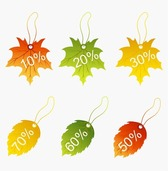Autumnal Discount with Fall Leaves