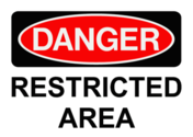 Restricted Area Sign PSD