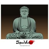 BUDDHA OF KAMAKURA VECTOR.eps