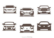 Cars Silhouette Vector Pack of Sports Cars