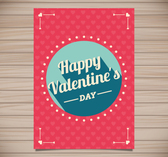 Valentine's Day greeting cards vector material wood backgrou
