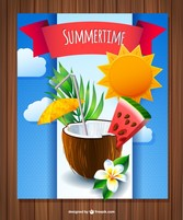 Coconut summer drink