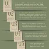 Stylish infographic with numbers