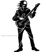 GUITARIST FREE VECTOR GRAPHICS.eps