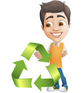Vector Male Behind Eco Symbol