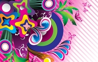 Wonderful Abstract Flower Background