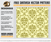 Free damask seamless pattern