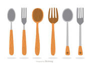 Wooden Utensil Vectors