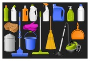 cleaning supplies icon